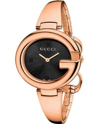 Gucci Ssima Pink Gold-plated Stainless Steel Watch - Lyst