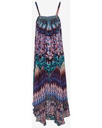 Camilla Over Lay Crystal Print Dress - Lyst