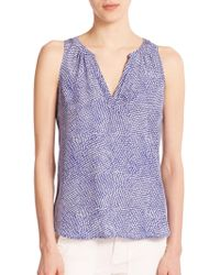 Joie Fifi Feather Print Tank Top - Lyst