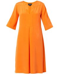 Saloni Dita Silk Shift Dress - Lyst