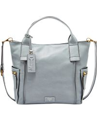 Fossil Emerson Leather Satchel - Lyst