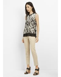Vince | Basketweave Print Silk Double Layer Shell | Lyst