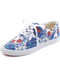 Bucketfeet - Floral Sneakers - Blue/Red - Lyst