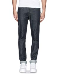 Acne Studios 'Max Raw' Cotton Slim Fit Jeans - Lyst