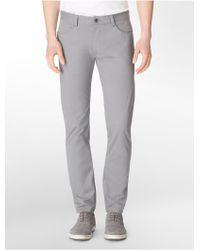 Calvin Klein Slim Fit Sateen Pants - Lyst