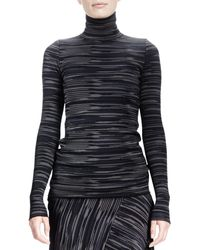 Stella McCartney Long-sleeve Space-dyed Turtleneck Top - Lyst