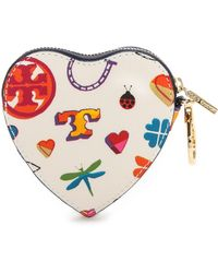 Tory Burch Kerrington Heart Zip Key Fob - Lucky Print - Lyst