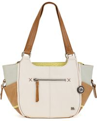 The Sak Kendra Leather Satchel - Lyst