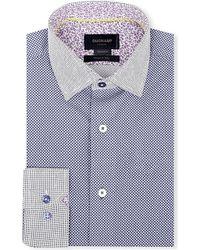 Duchamp Polka Dot Print Cotton Shirt - For Men - Lyst