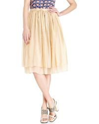 Alysi Silk Chiffon Skirt - Lyst