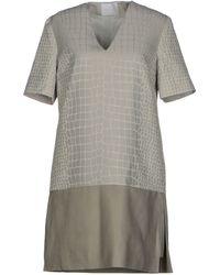 Richard Nicoll Gray Short Dress - Lyst