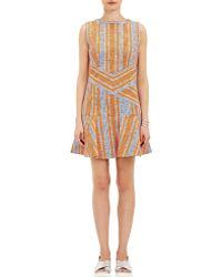 Carven Stripe Tweed Dress - Lyst