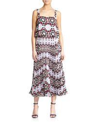 Elle Sasson Luana Mosaic Silk Dress - Lyst