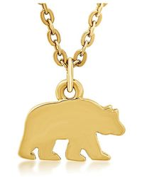 George & Laurel - Trinity Bear Necklace - Lyst
