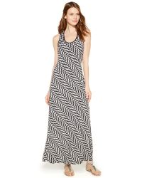 Calvin Klein Geometric-Print Maxi Dress black - Lyst