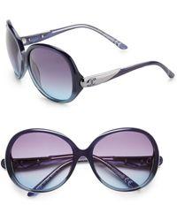 Just Cavalli | Oversized Round Acetate Sunglasses | Lyst