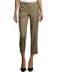 Lafayette 148 New York Cropped Bleecker Pants - Lyst