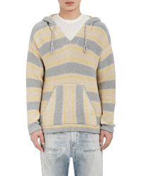 Outerknown - Striped Hooded Poncho Size Xl - Lyst