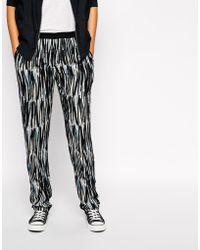 American Vintage Printed Trousers - Lyst