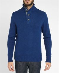 Tommy Hilfiger | Mixed Blue Button-up Collar Sweater | Lyst