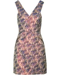Topshop Petite Flame Jacquard Shift Dress  Pink - Lyst