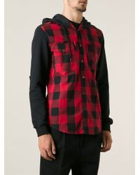 McQ by Alexander McQueen Checked Hooded Shirt Jacket - Lyst