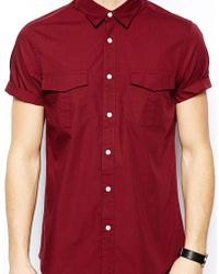 Asos Military Shirt in Short Sleeve - Lyst