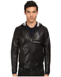 Marc By Marc Jacobs Hooded Leather Jacket - Lyst