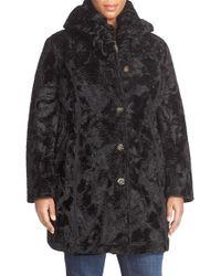 Laundry by Shelli Segal | Reversible Faux Persian Lamb Fur Coat | Lyst