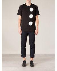 Comme Des Garçons Round Holes T-shirt - Lyst