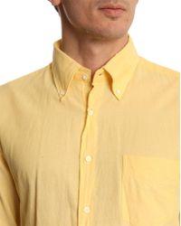Gant Rugger Selvage Madras Rugger Yellow Shirt - Lyst