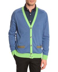 Marc By Marc Jacobs Multicolour Blue Cashmere Cardigan - Lyst