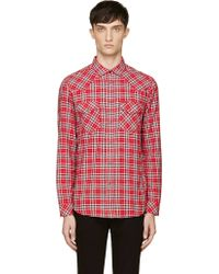 Diesel Red Plaid S_obba Button_up Shirt - Lyst