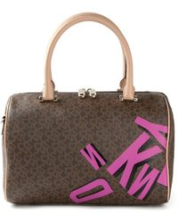 DKNY Coated Logo Shoulder Bag - Lyst