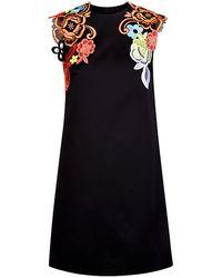Christopher Kane Floral Appliquã© Dress - Lyst