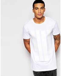 Asos T-Shirt With Faux Leather Applique Panels And Relaxed Skater Fit - Lyst