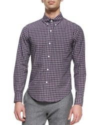 Band Of Outsiders Check Buttondown Shirt - Lyst