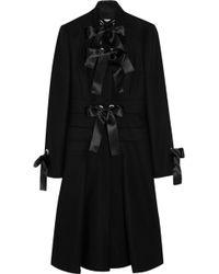 Alexander McQueen Bowembellished Woolfelt Coat - Lyst
