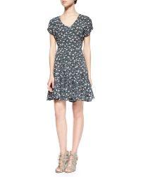 Current/Elliott T The Juliet Floral-Print Dress - Lyst
