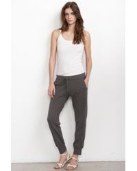 Velvet By Graham & Spencer Saki French Terry Harem Pants - Lyst
