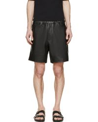 Surface To Air Black Leather Boxing Shorts black - Lyst