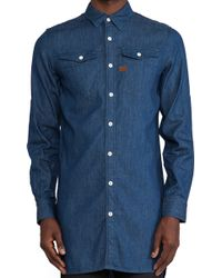 G-star Raw Tacoma Xl Long Recruit Denim Shirt - Lyst