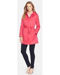 Lauren by Ralph Lauren Women'S Trench Coat With Detachable Hood - Lyst