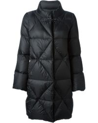 Fay Black Quilted Coat - Lyst