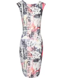 Jane Norman Geo Print Bodycon Dress - Lyst