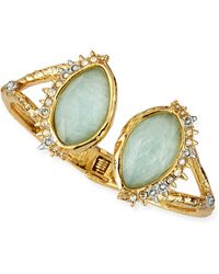 Alexis Bittar Gilded Muse Dore Fancy Amazonite Open Cuff - Lyst