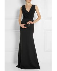 Victoria Beckham Ruffled Silk and Wool-blend Gown - Lyst
