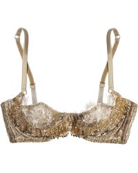 Agent Provocateur Soirée Zarrinia Metallic Beaded Lace Underwired Bra - Lyst