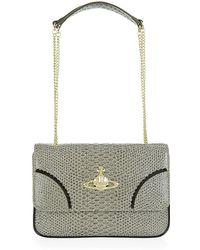Vivienne Westwood Frilly Snake Shoulder Bag - Lyst