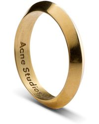 Acne Studios Gold Ring Gold - Lyst